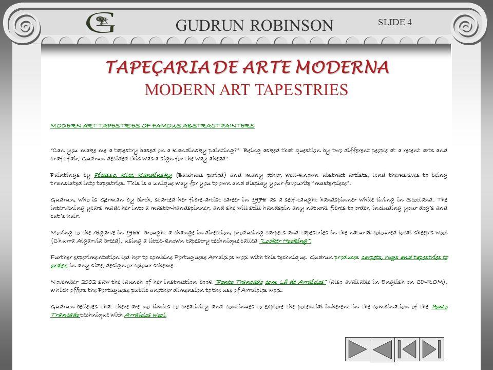 GUDRUN ROBINSON - SILVER MOON TAPEÇARIA DE ARTE MODERNA MODERN ART TAPESTRIES 0.46 x 0.47m GUDRUN ROBINSON GR.TPÇ.038 SLIDE 75