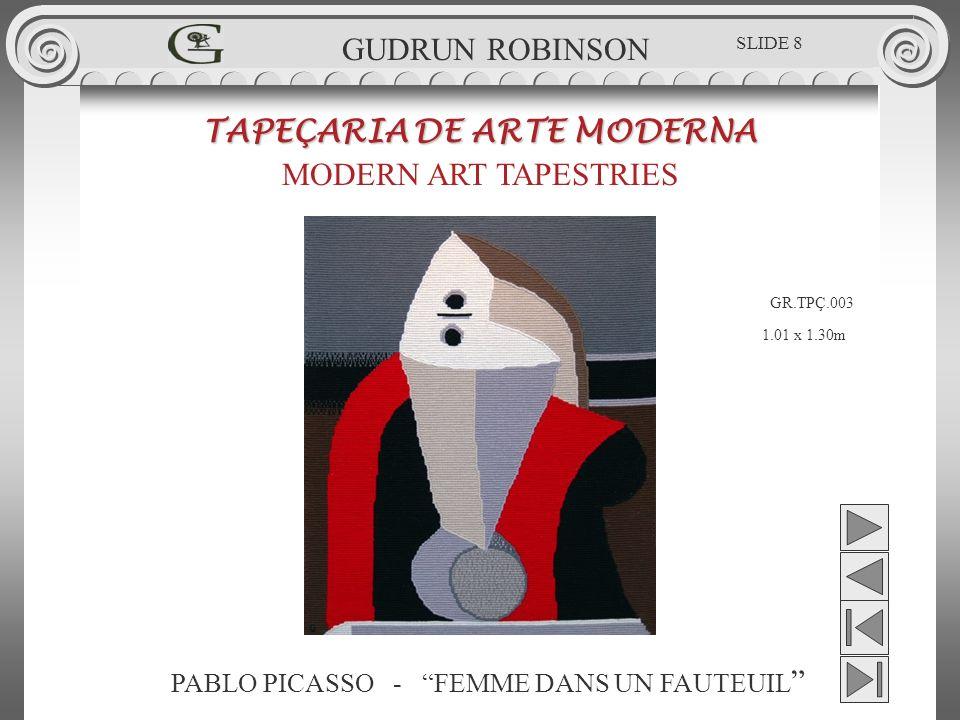 PAUL KLEE - FLORA ON THE SAND TAPEÇARIA DE ARTE MODERNA MODERN ART TAPESTRIES 0.48 x 0.43m GUDRUN ROBINSON SLIDE 29