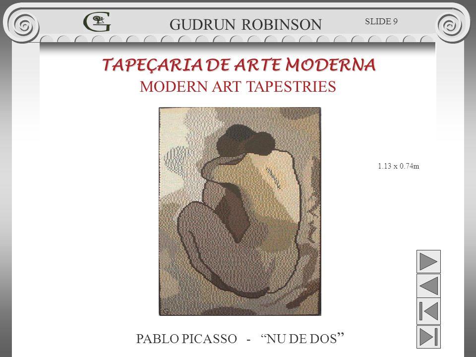 PABLO PICASSO - NU DE DOS TAPEÇARIA DE ARTE MODERNA MODERN ART TAPESTRIES 1.13 x 0.74m GUDRUN ROBINSON SLIDE 9