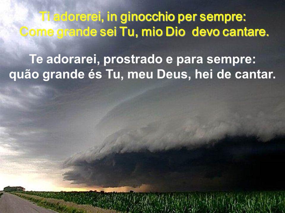 Quando enfim, Jesus vier em glória e ao lar celeste então me transportar Quando finalmente, Gesù verrà in gloria Alla casa celestiale allora trasporta