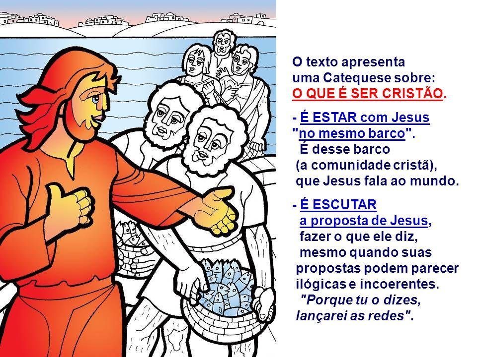 No Evangelho temos o Chamado dos Primeiros APÓSTOLOS.