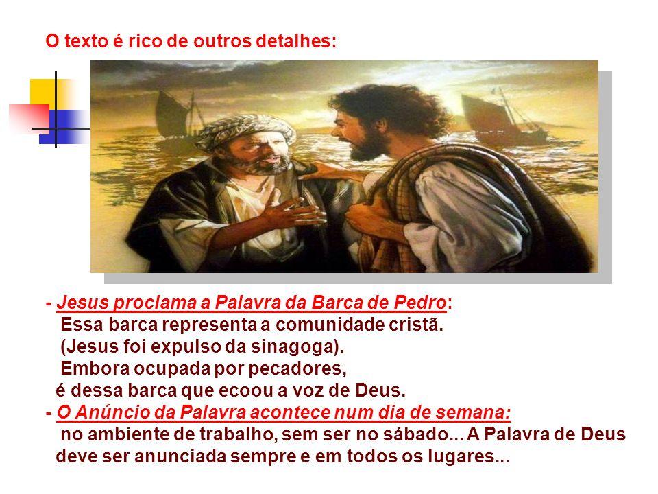É RECONHECER como o SENHOR : É o que Pedro faz, ao perceber que a proposta de Jesus gera vida e fecundidade para todos.