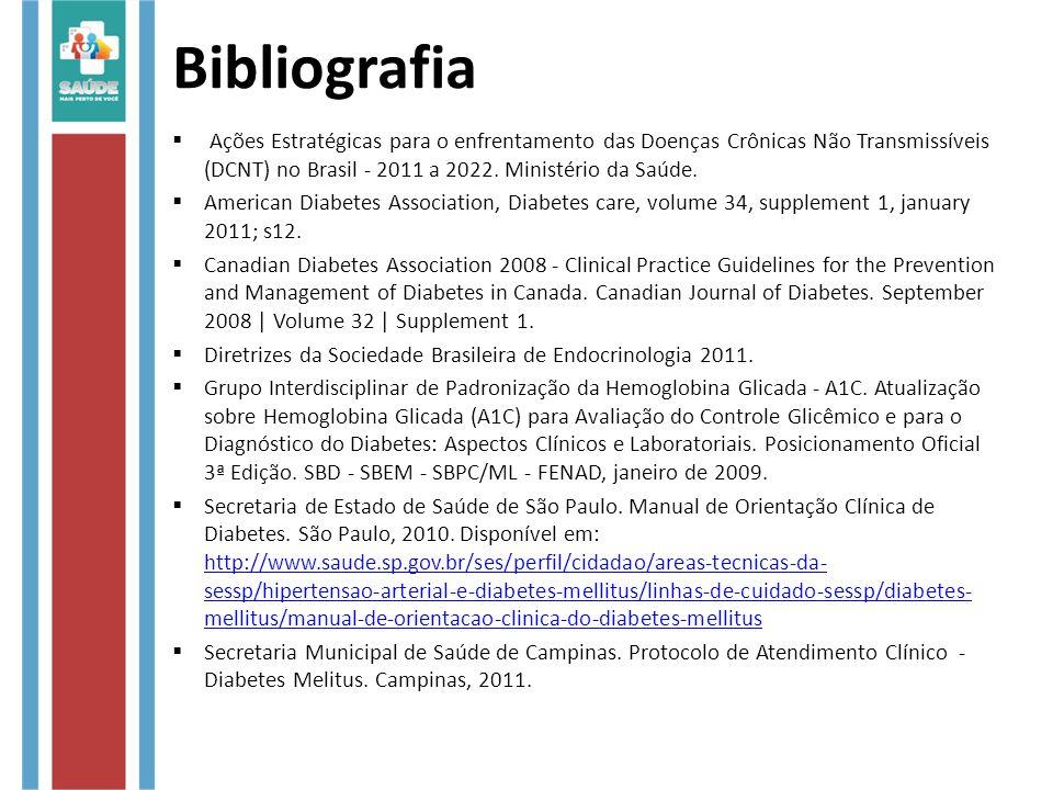Bibliografia  Ações Estratégicas para o enfrentamento das Doenças Crônicas Não Transmissíveis (DCNT) no Brasil - 2011 a 2022.