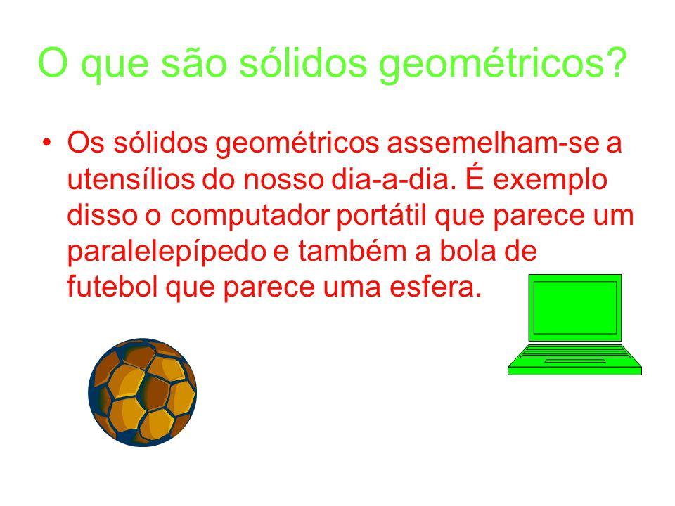 O que são sólidos geométricos.