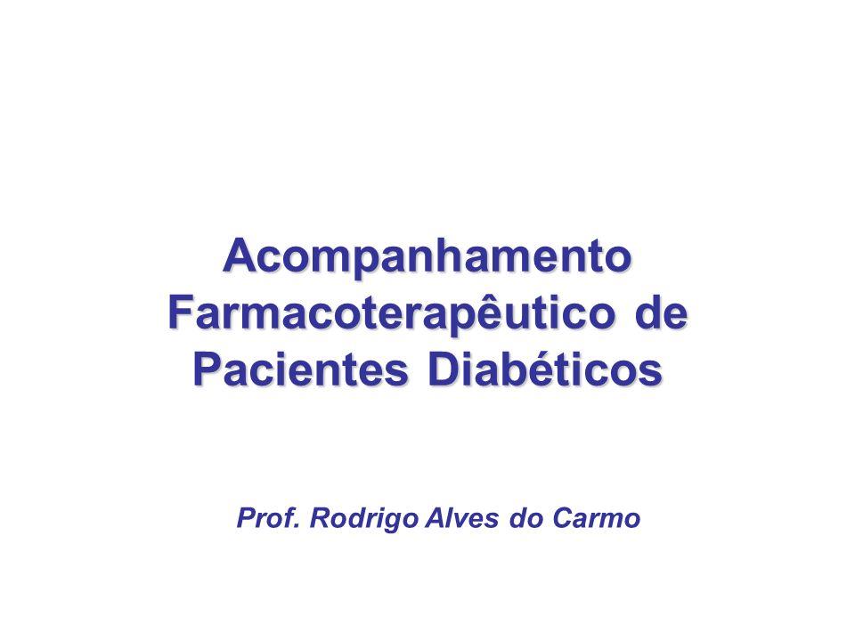 Acompanhamento Farmacoterapêutico de Pacientes Diabéticos Prof. Rodrigo Alves do Carmo