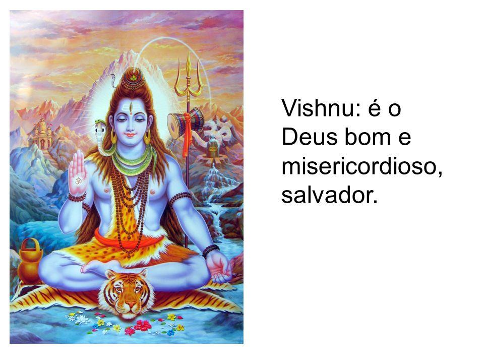 Vishnu: é o Deus bom e misericordioso, salvador.