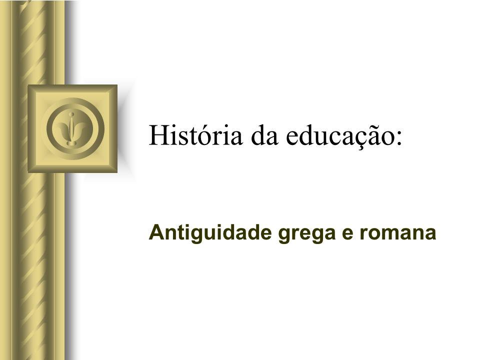 História da educação: Antiguidade grega e romana