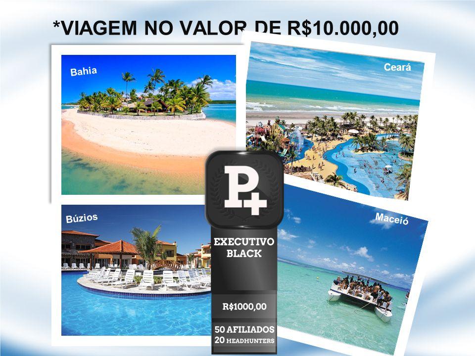*VIAGEM NO VALOR DE R$10.000,00 Bahia Ceará Maceió Búzios