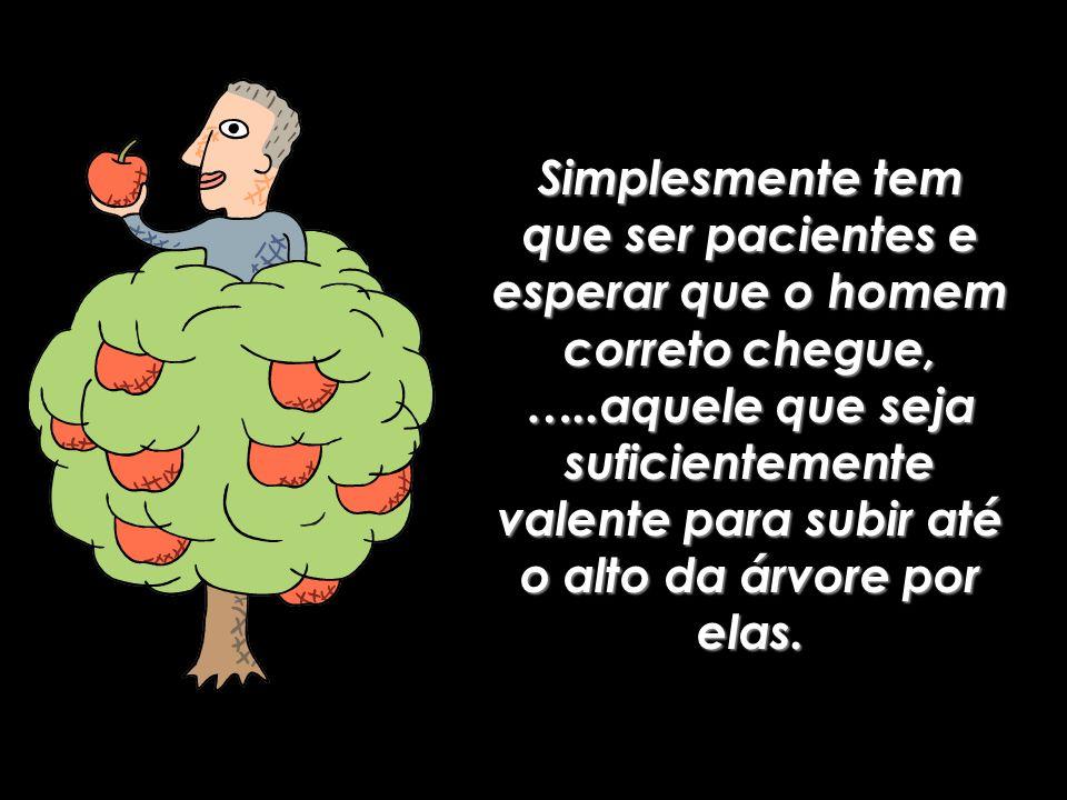 Ás vezes as maçãs que estão na copa da árvore, pensam para si, que algo está errado com elas, quando na verdade, Elas são grandiosas .