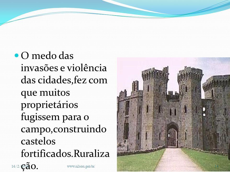 Construindo o castelo fortificado 16/2/2016www.nilson.pro.br13