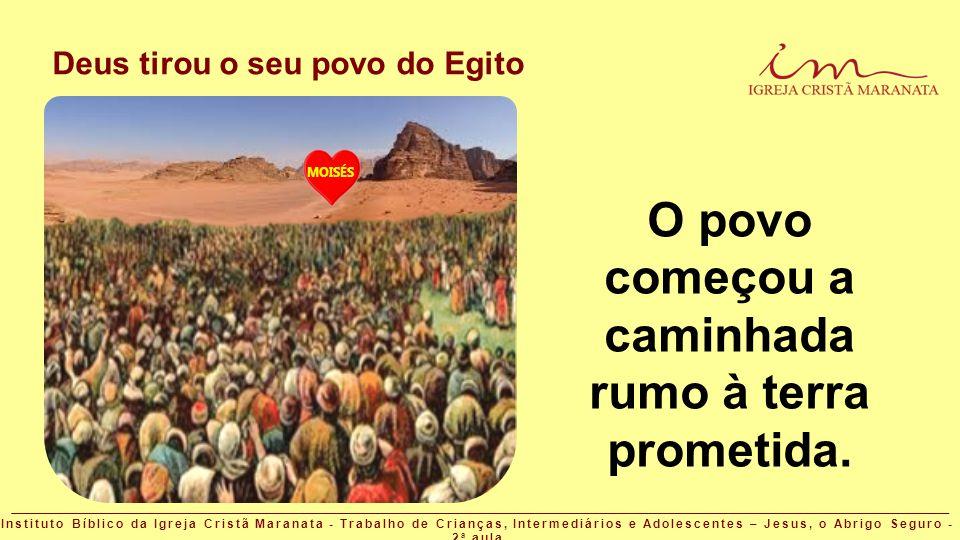 Deus tirou o seu povo do Egito MOISÉS O povo começou a caminhada rumo à terra prometida. Instituto Bíblico da Igreja Cristã Maranata - Trabalho de Cri