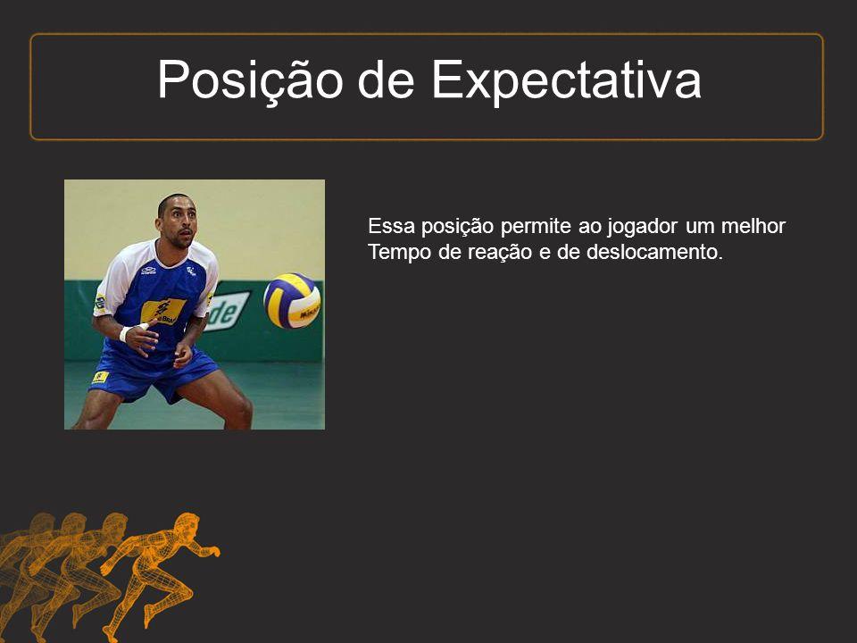 Posição de Expectativa Essa posição permite ao jogador um melhor Tempo de reação e de deslocamento.