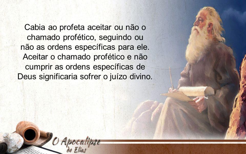 Cabia ao profeta aceitar ou não o chamado profético, seguindo ou não as ordens específicas para ele. Aceitar o chamado profético e não cumprir as orde