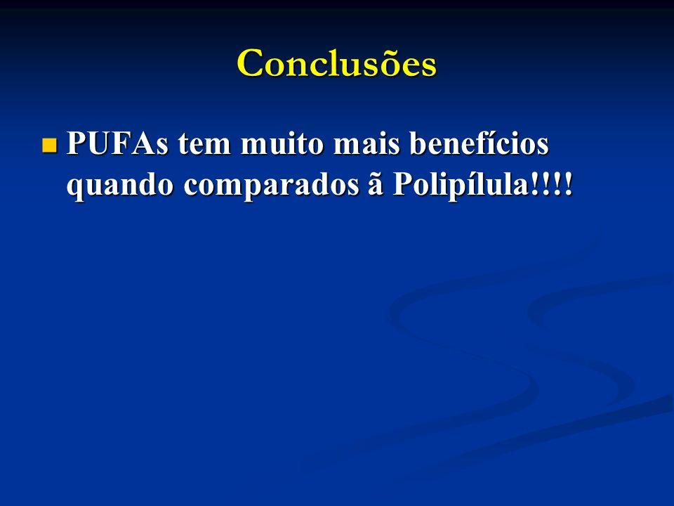 Conclusões PUFAs tem muito mais benefícios quando comparados ã Polipílula!!!.