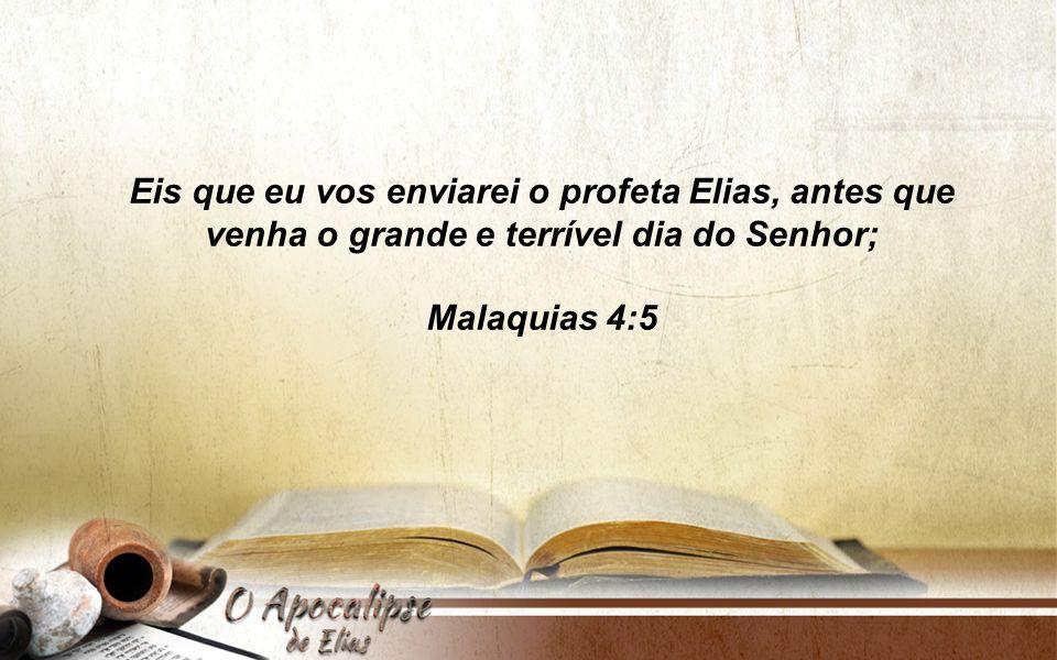 O profeta Elias A João Batista B O Elias que virá C A Bíblia nos apresenta três Elias :