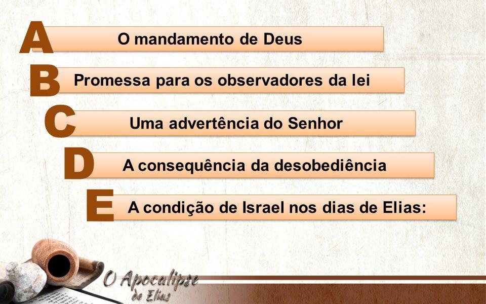 Jesus mencionou que o Elias que viria restauraria todas as coisas (Mt 17:11).