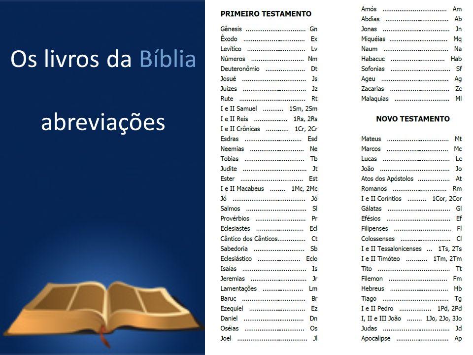 Os livros da Bíblia abreviações