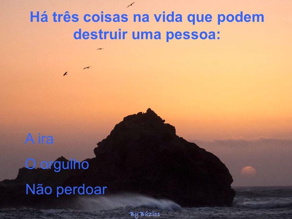 Há três coisas na vida que podem destruir uma pessoa: A ira O orgulho Não perdoar By Búzios