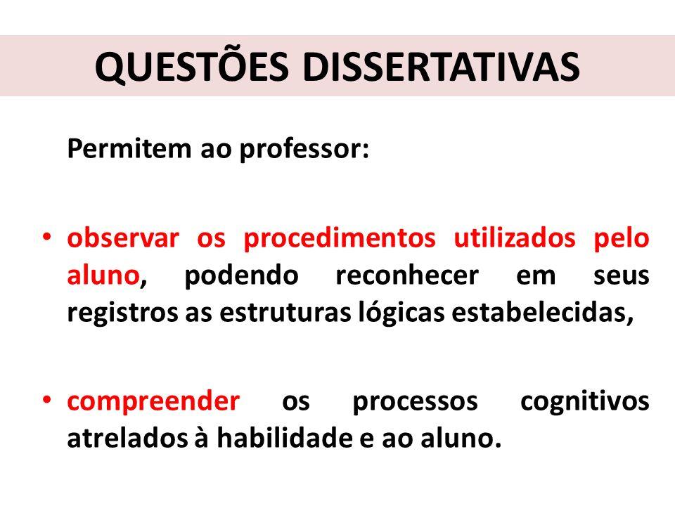 Constituição dos Comentários e Recomendações Pedagógicas Apresentam inicialmente os objetivos dessa avaliação em processo.