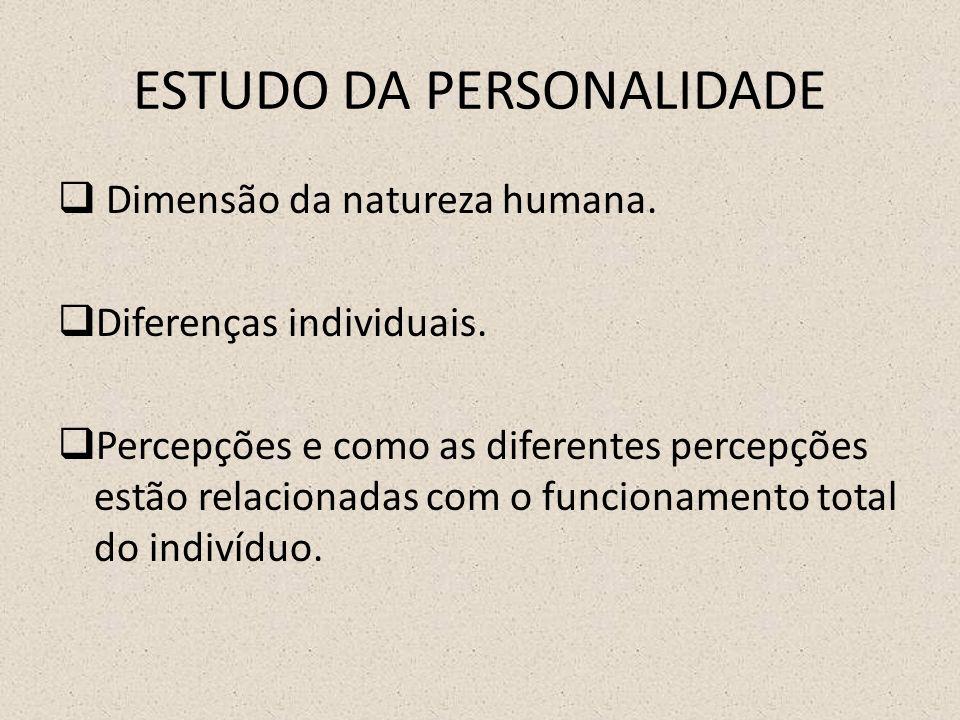 ESTUDO DA PERSONALIDADE  Dimensão da natureza humana.