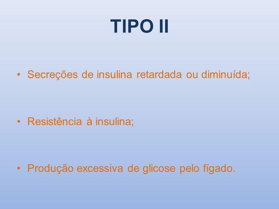 Resistência à insulina Altos níveis de insulina no sangue desenvolvem tolerância a esse hormônio.