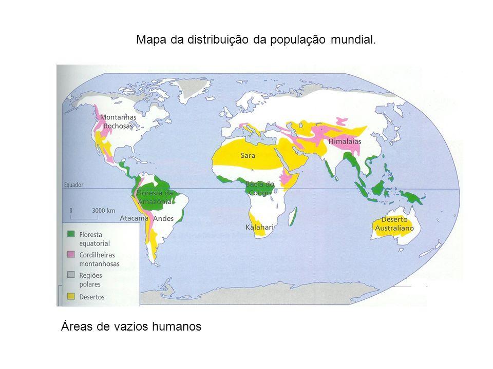 As diferenças na repartição da população são notórias a qualquer escala de análise, todavia é a nível mundial que os contrastes são mais significativos.