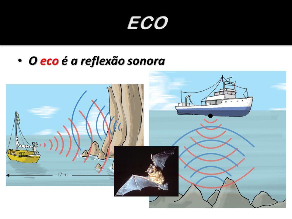 O eco é a reflexão sonora O eco é a reflexão sonora