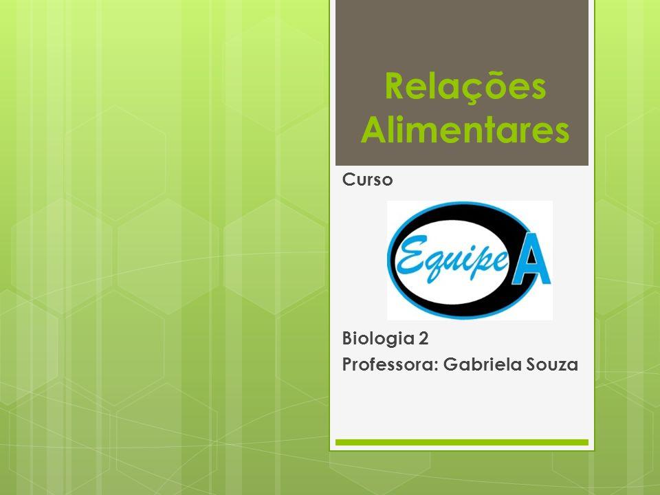 Relações Alimentares Curso Biologia 2 Professora: Gabriela Souza