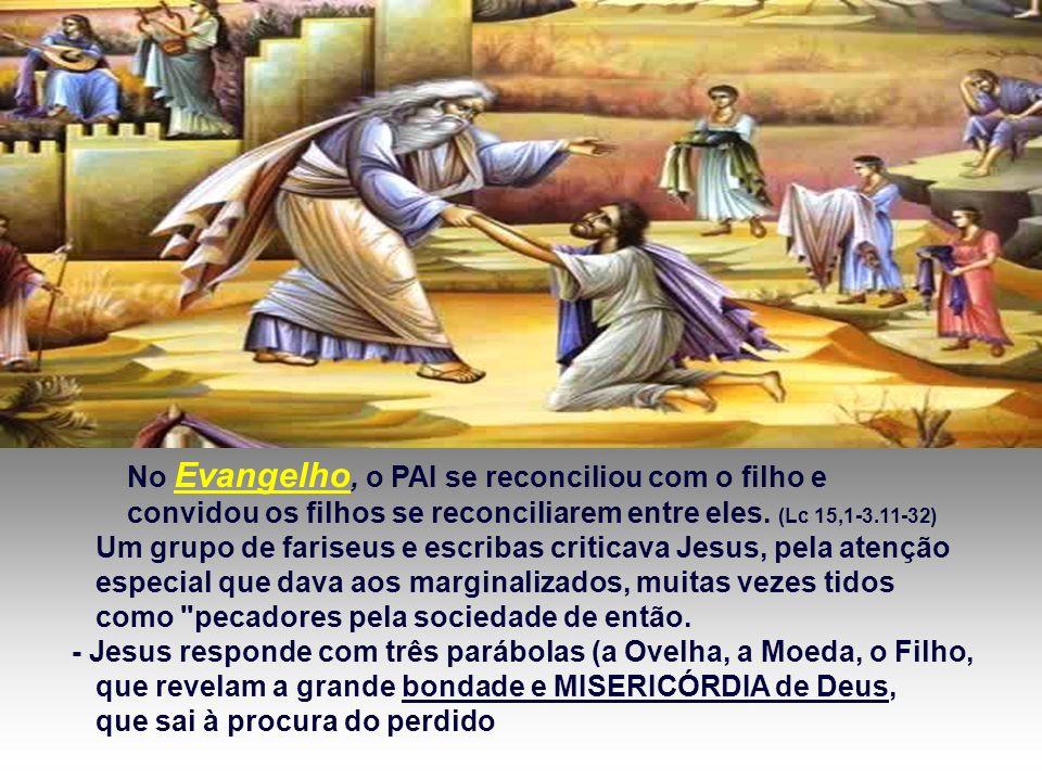 A 2ª Leitura é um Hino que enaltece a Misericórdia de Deus, que nos deu a vida em Cristo e recomenda: DEIXAI-VOS RECONCILIAR com Deus .