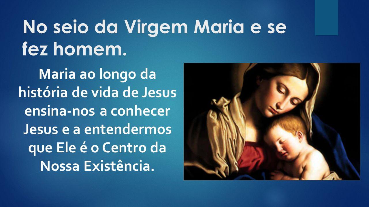 Maria ao longo da história de vida de Jesus ensina-nos a conhecer Jesus e a entendermos que Ele é o Centro da Nossa Existência.