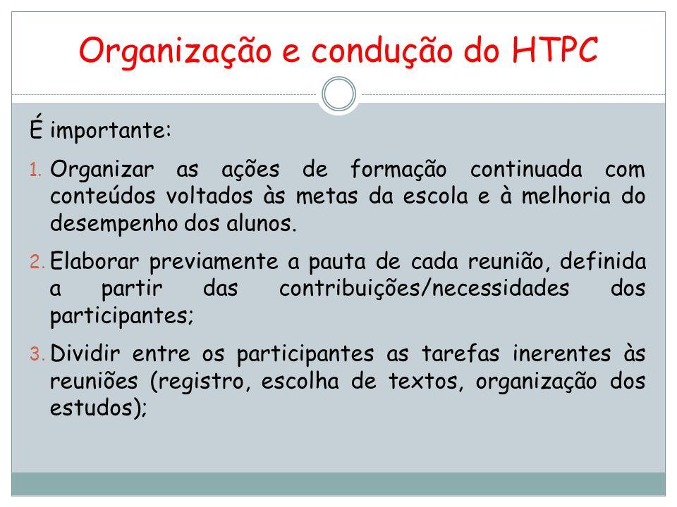 É importante: 4.Planejar formas de avaliação das reuniões pelo coletivo dos participantes; 5.