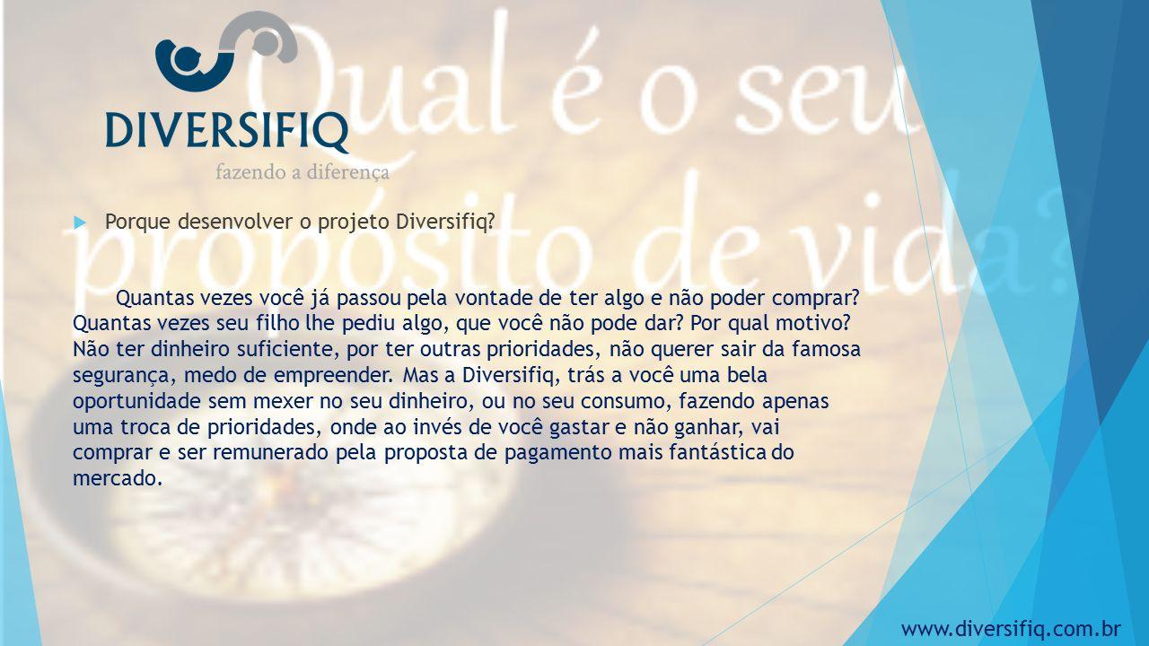  Porque desenvolver o projeto Diversifiq.
