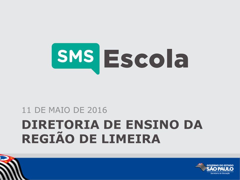 DIRETORIA DE ENSINO DA REGIÃO DE LIMEIRA 11 DE MAIO DE 2016