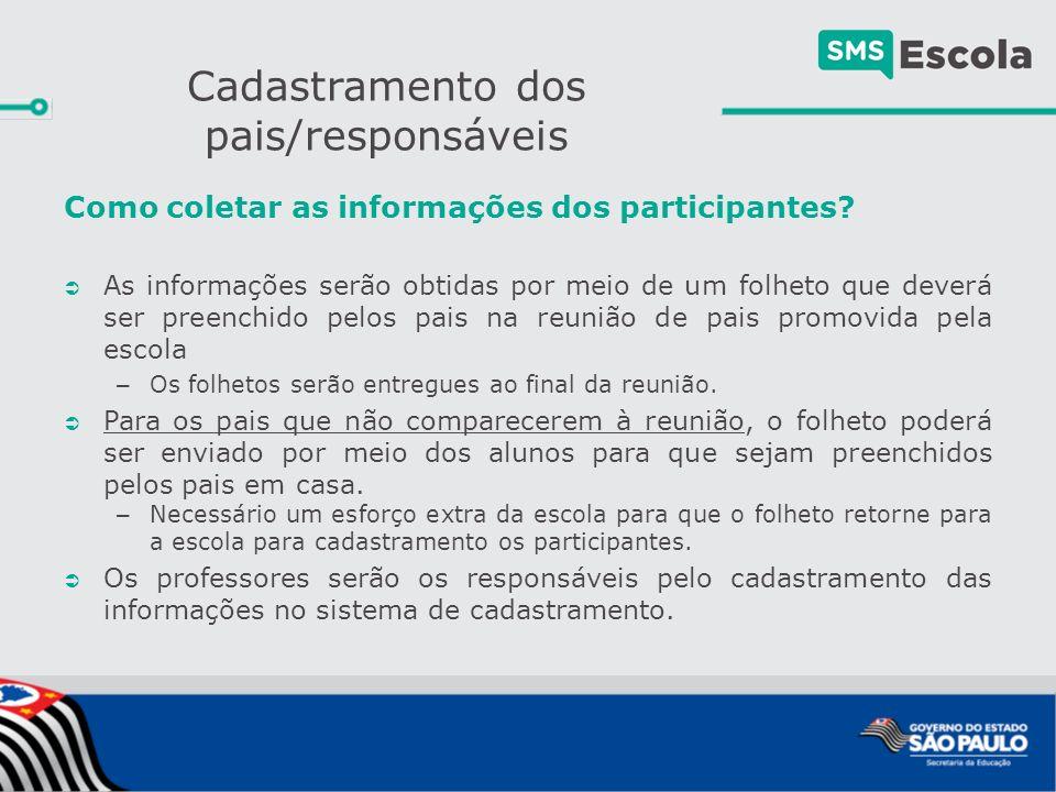 Como coletar as informações dos participantes.