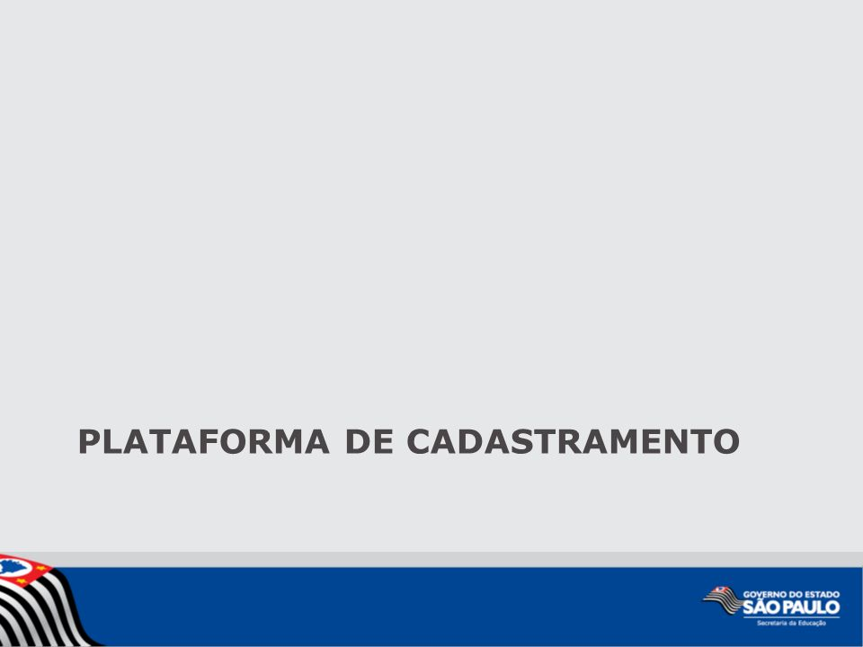 PLATAFORMA DE CADASTRAMENTO