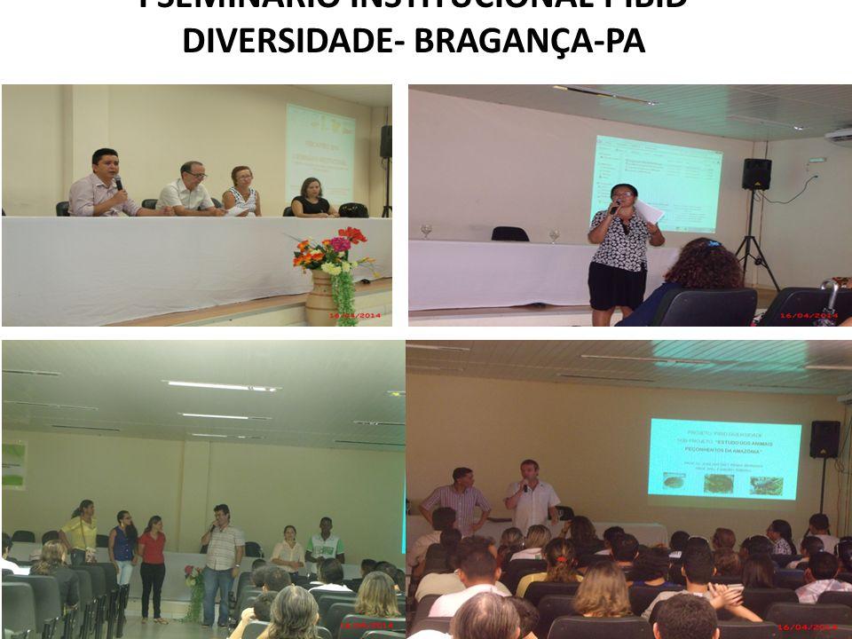 I SEMINÁRIO INSTITUCIONAL PIBID DIVERSIDADE- BRAGANÇA-PA