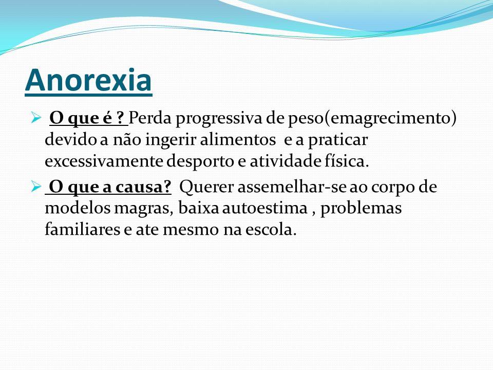 Anorexia  O que é .