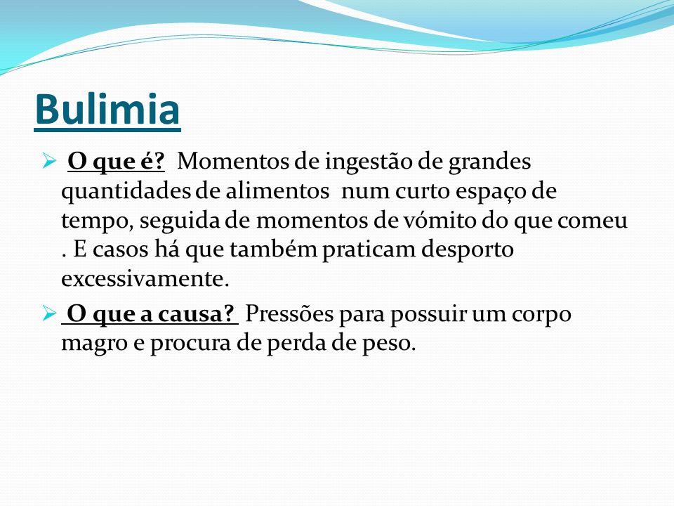 Bulimia  O que é.