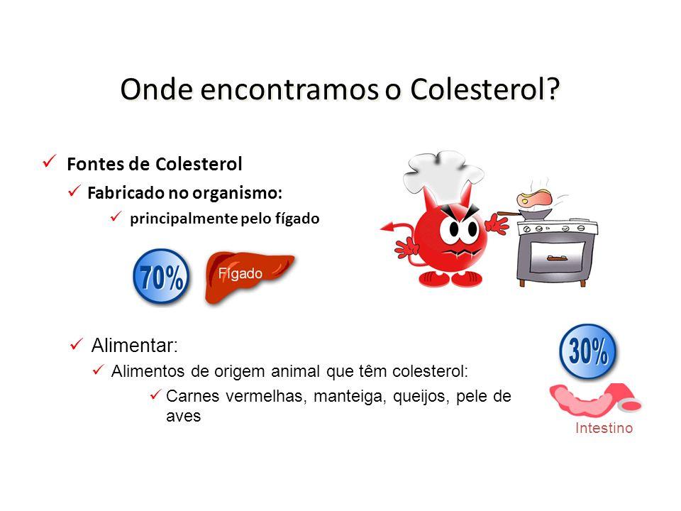 Onde encontramos o Colesterol.