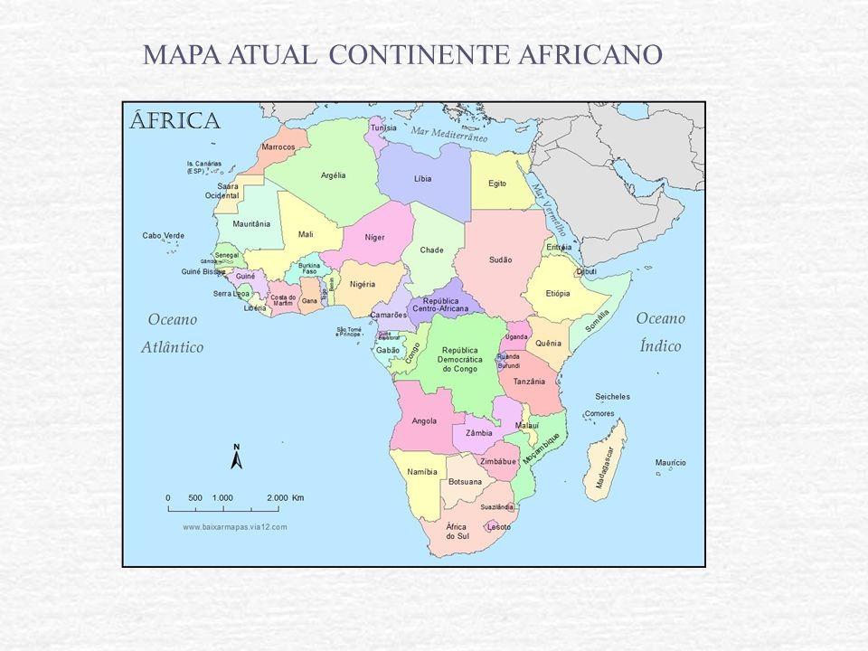 MAPA ATUAL CONTINENTE AFRICANO