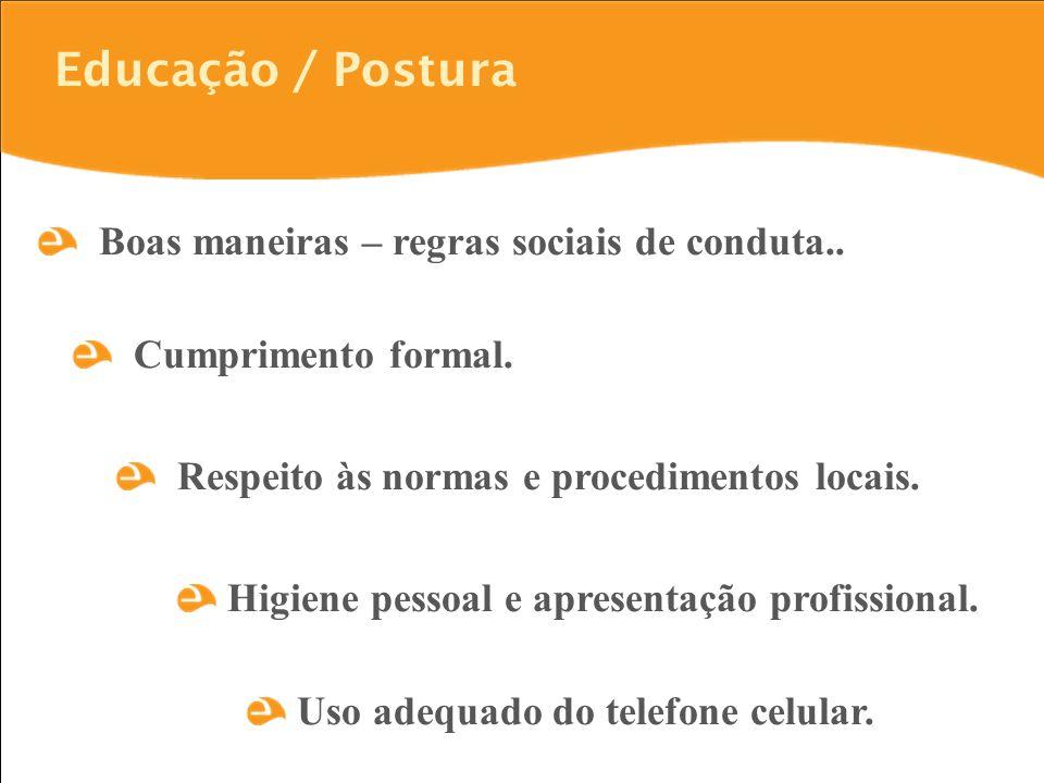 Educação / Postura Boas maneiras – regras sociais de conduta..