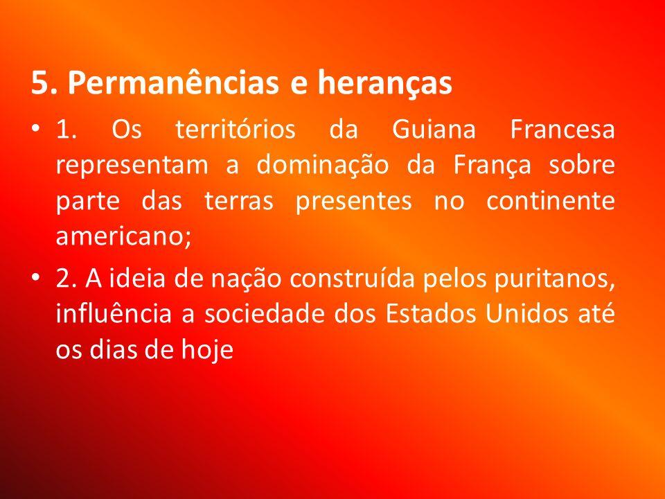 5. Permanências e heranças 1.