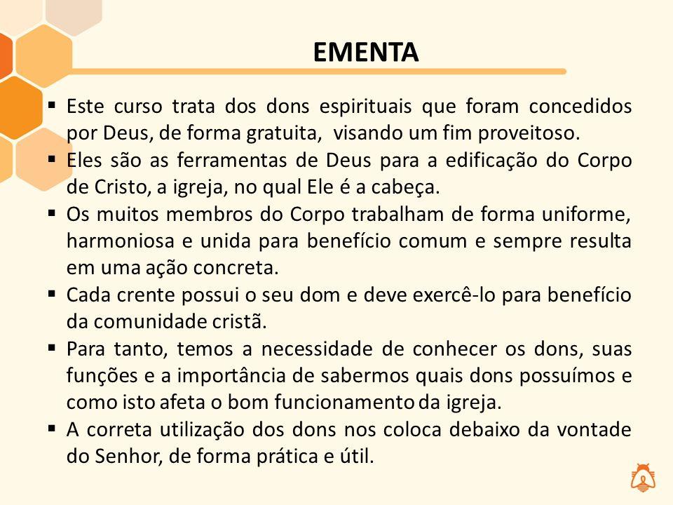 Suficiente VIVÊNCIA DONS DO ESPÍRITO FERRAMENTAS de Deus para Edificação do  TC39