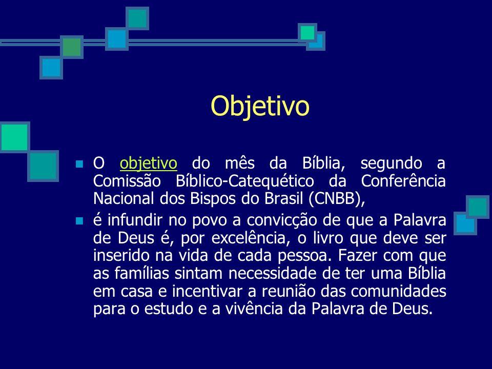 Histórico do Mês da Bíblia 1971: Aconteceu a celebração do Mês da Bíblia, na Arquidiocese de Belo Horizonte por sugestão e coordenação das Irmãs Paulinas, Pe.