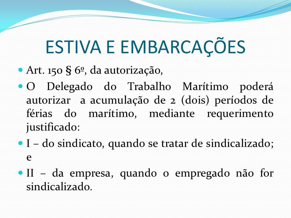 ESTIVA DE EMBARCAÇÕES Caderneta - matricula.Art.