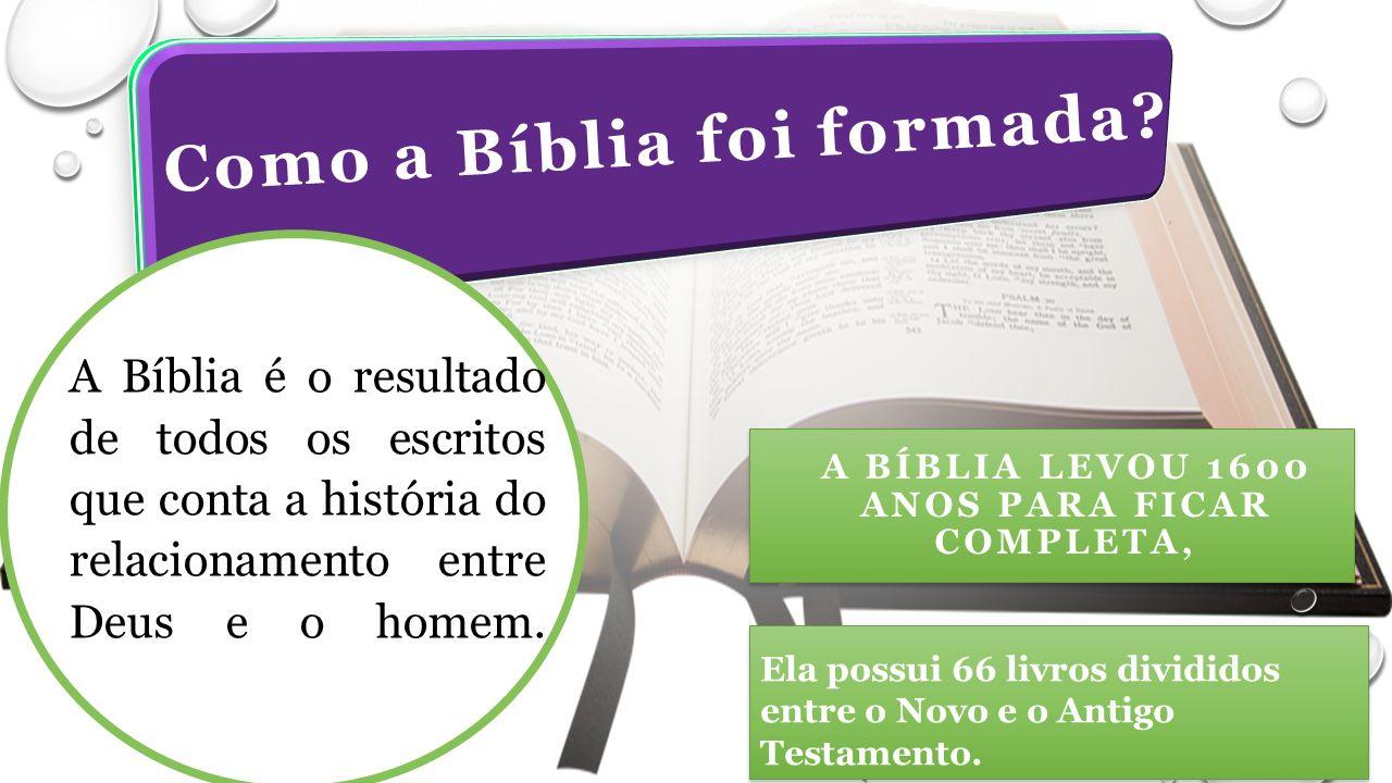 A BÍBLIA LEVOU 1600 ANOS PARA FICAR COMPLETA, Ela possui 66 livros divididos entre o Novo e o Antigo Testamento.
