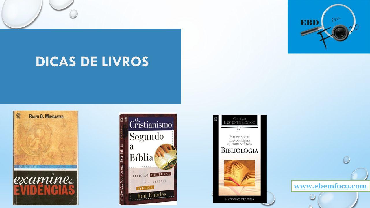 DICAS DE LIVROS www.ebemfoco.com