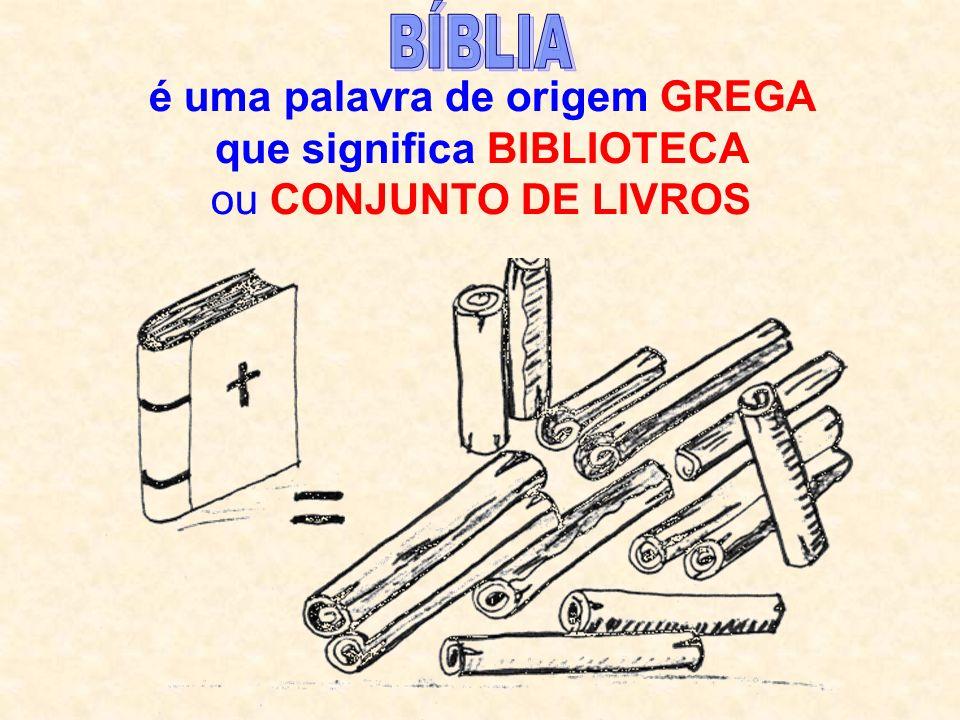 é uma palavra de origem GREGA que significa BIBLIOTECA ou CONJUNTO DE LIVROS