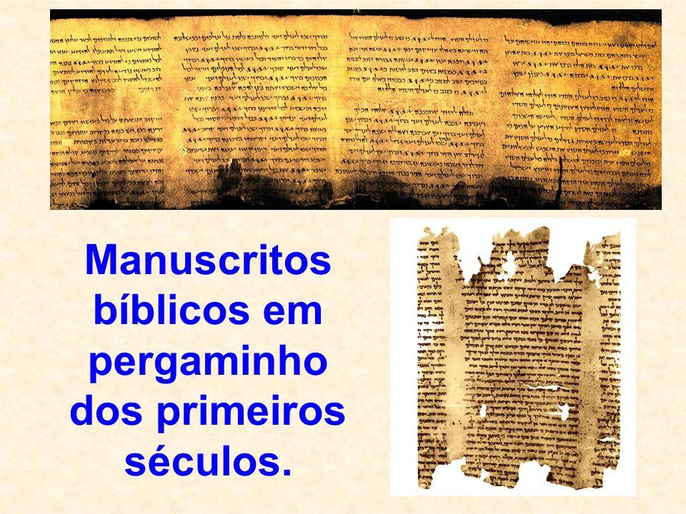 Manuscritos bíblicos em pergaminho dos primeiros séculos.