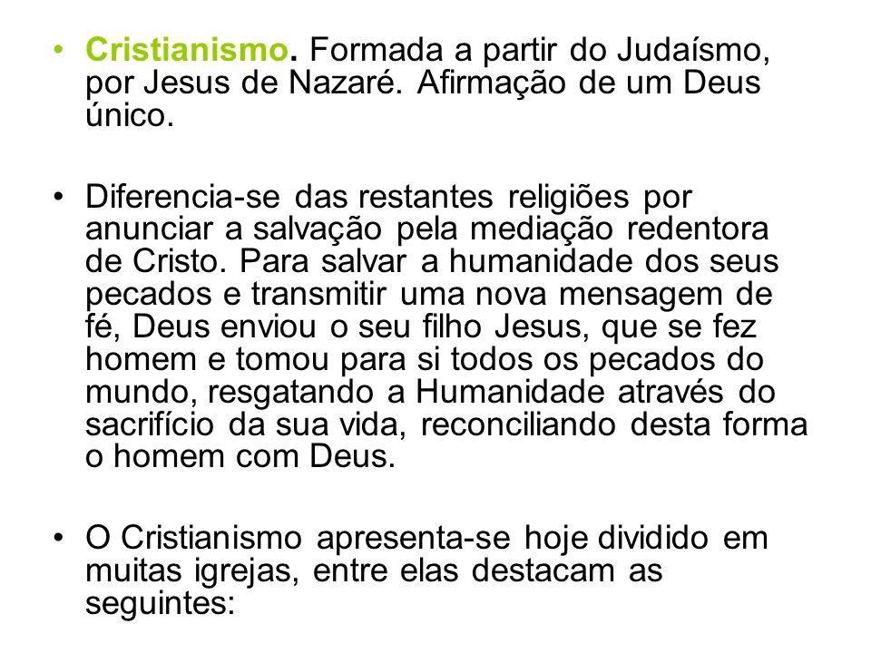 a) Igreja Católica.É a maior igreja cristã. O chefe supremo é o papa.